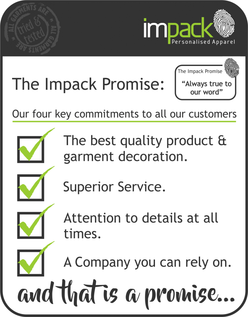 Impack Apparel Customer Promise