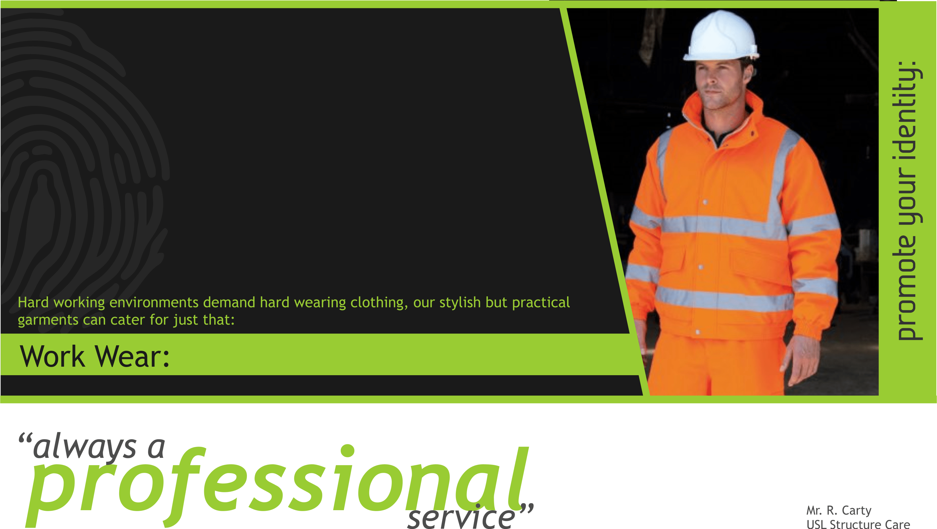 Personalised Workwear PPE Equipment